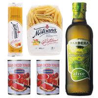イタリア産パスタ・トマト缶・オリーブオイルセット (直送品)