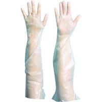 トラスコ中山 使い捨てぴたフィットロング手袋 S (100枚入) TLP-S 787-9628(直送品)