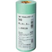 スリーエム ジャパン(3M) 3M マスキングテープ 20mmX18m 6巻入り 343 20 1パック(108m) 778-2837(直送品)