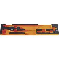 トラスコ中山(TRUSCO) TRUSCO EVAフォーム 黒×オレンジ 3段式工具箱用 TIT44SBKF4 1枚 776-1741(直送品)