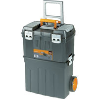 バーコ ヘビーデューティー仕様キャスター付きプラスチックボックス 4750PTBW47 794-0076(直送品)