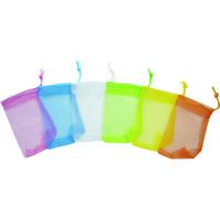 三和製作所 sanwa 石鹸ネット ひもタイプ 6色アソート 24枚組 101-551 1セット 819-4109 (直送品)