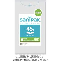 日本サニパック UH54強化ポリ袋45L半透明 50枚 UH54-HCL 1冊(50枚) 783-9600 (直送品)