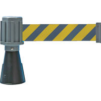 トラスコ中山(TRUSCO) TRUSCO 安全コーン用バリアライン(反射標示テープ付) 黄・黒 TCC-BR-3 1個 819-5365 (直送品)