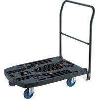 TRUSCO 樹脂台車 カルティオビッグフラット 回転 900X600 4輪自在 黒 MPK-906F2J-BK 818-6995(直送品)