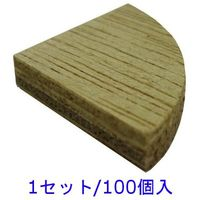 フクビ化学工業 フクビ OAフロアシリーズ OAフロア用 端部キャップ 合板F4 厚み5mm 1セット/100個入 (直送品)