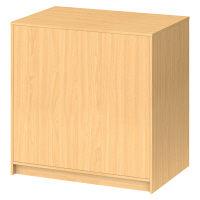 ストア・エキスプレス 木製カウンター 収納付 エクリュ 幅900×奥行600×高さ900mm 1台 (直送品)