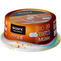 ソニー 録音用CDーRオーディオ 80分 手書もできるカラーMixワイドプリンタブル 30枚スピンドル 30CRM80HPXP 1式  (直送品)
