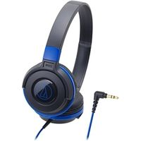 オーディオテクニカ STREET MONITORING ポータブルヘッドホン ブラックブルー ATH-S100 BBL 1本  (直送品)