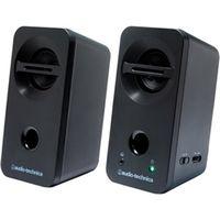 オーディオテクニカ デスクトップスピーカー ブラック AT-SP93 BK 1個  (直送品)