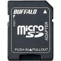 バッファロー microSDカード→SDカード変換アダプター BSCRMSDA 1台  (直送品)
