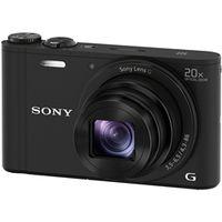 ソニー デジタルスチルカメラ Cyberーshot WX350 (1820万画素CMOS/光学x20) ブラック DSC-WX350/B 1台  (直送品)
