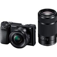 ソニー デジタル一眼カメラ α6000 ダブルズームレンズキット ブラック ILCE-6000Y/B 1台  (直送品)