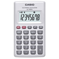 カシオ計算機 パーソナル電卓 カードタイプ 8桁 LC-797A-N 1個  (直送品)