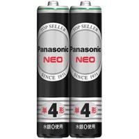 パナソニック マンガン乾電池 ネオ黒 単4形 2本シュリンクパック R03NB/2S 1個  (直送品)