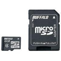 バッファロー 防水仕様 Class4対応 microSDHCカード SD変換アダプター付モデル 16GB RMSD-BS16GAB 1台  (直送品)