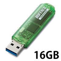 バッファロー USB3.0対応 USBメモリー スタンダードモデル 16GB グリーン RUF3-C16GA-GR 1台  (直送品)