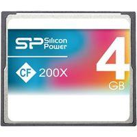 シリコンパワー コンパクトフラッシュカード 200倍速 4GB 永久保証 SP004GBCFC200V10 1枚  (直送品)
