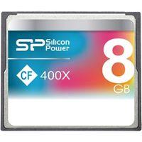 シリコンパワー コンパクトフラッシュカード 400倍速 8GB 永久保証 SP008GBCFC400V10 1枚  (直送品)