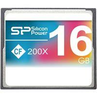 シリコンパワー コンパクトフラッシュカード 200倍速 16GB 永久保証 SP016GBCFC200V10 1枚  (直送品)