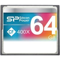 シリコンパワー コンパクトフラッシュカード 400倍速 64GB 永久保証 SP064GBCFC400V10 1枚  (直送品)
