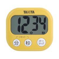 タニタ デジタルタイマー【でか見え】 マンゴーイエロー TD384MY 1台(直送品)
