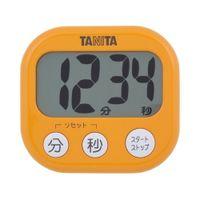 タニタ デジタルタイマー【でか見え】 アプリコットオレンジ TD384OR 1台(直送品)