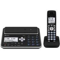 パイオニア デジタルフルコードレス留守番電話機 子機1台タイプ ブラック TF-FA70W-K 1台  (直送品)