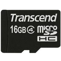 トランセンド 16GB micro SDHC Card (Class 4、NoBox & Adapter) TS16GUSDC4 1個(直送品)
