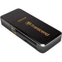 トランセンド USB3.0&2.0接続カードリーダーライター F5 ブラック TS-RDF5K 1個  (直送品)