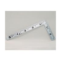 シンワ測定 曲尺平ぴた シルバー 表裏同目 5寸/16cm 10008 1本 (取寄品)