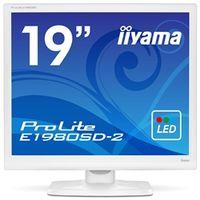 iiyama 19型液晶ディスプレイ ProLite E1980SDー2 (LED) ピュアホワイト E1980SD-W2 1台  (直送品)