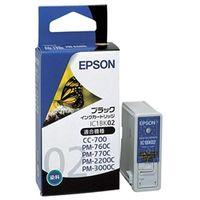 エプソン インクカートリッジ ブラック (PMー760C/770C/2200C/3000C/CCー700用) IC1BK02 1個  (直送品)