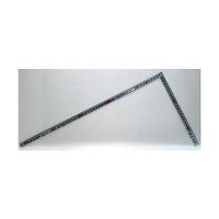 シンワ測定 曲尺角厚 シルバー 表裏同目JIS 呼寸 52cm 10030 1本 (取寄品)