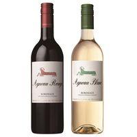 【お中元ギフト】「シャトー・ムートン」の直系ブランド子羊ワイン アニョー紅白2本セット AG-30 (直送品)