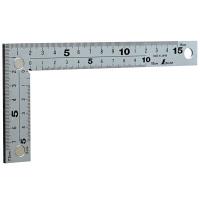 シンワ測定 曲尺厚手広巾 シルバー 表裏同目 8段目盛 呼寸 17cm 10435 1本 (取寄品)