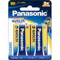 パナソニック 乾電池エボルタ9V形 2本パック 6LR61EJ/2B 1個  (直送品)