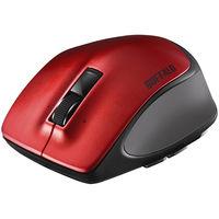 バッファロー Bluetoothマウス(静音) Premium Fitマウス ブルーLED式/5ボタン/静音タイプ レッド BSMBB500LRD(直送品)