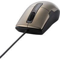 バッファロー 有線マウス(静音)BSMBU26SSシリーズ ブラウン ブルーLED式/3ボタン/静音タイプ/Sサイズ BSMBU26SSBW(直送品)
