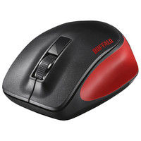 バッファロー 無線(ワイヤレス)マウス(静音) Premium Fitマウス レッド ブルーLED式/3ボタン/静音タイプ BSMBW300MRD(直送品)