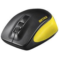 バッファロー 無線(ワイヤレス)マウス(静音) Premium Fitマウス イエロー ブルーLED式/3ボタン/静音タイプ BSMBW300MYE(直送品)