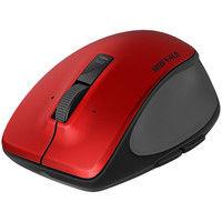 バッファロー 無線(ワイヤレス)マウス(静音) Premium Fit レッド ブルーLED式/3ボタン/静音タイプ/Sサイズ BSMBW500SRD(直送品)