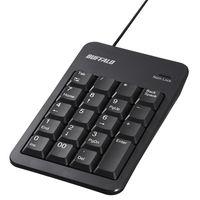 バッファロー 有線テンキーボード Tabキー付き ブラック BSTK100BK 1台  (直送品)