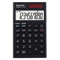 シャープ 電卓 10桁 (ハンディ・手帳タイプ) EL-WA21-X 1台  (直送品)