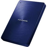 アイ・オー・データ機器 USB3.0/2.0対応 ポータブルハードディスク 「カクうす」 1.0TB ブルー HDPX-UTA1.0B 1台  (直送品)
