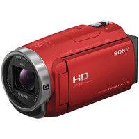 ソニー デジタルHDビデオカメラレコーダー Handycam CX680 レッド HDR-CX680/R 1個  (直送品)
