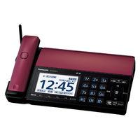 パナソニック デジタルコードレス普通紙ファクス(子機なし)(ボルドーレッド) KX-PD102D-R 1台  (直送品)