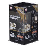 アイリスオーヤマ LEDフィラメント電球 E26 40形相当 電球色 調光クリア LDA4L-G/D-FC 1個  (直送品)