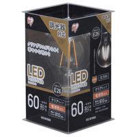 アイリスオーヤマ LEDフィラメント電球 E26 60形相当 電球色 調光クリア LDA7L-G/D-FC 1個  (直送品)