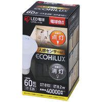 アイリスオーヤマ LED電球 人感センサー付 E26 60形相当 電球色 LDR8L-H-S6 1個  (直送品)
